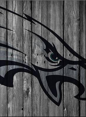 Philadelphia Eagles Wood Fence Poster by Joe Hamilton