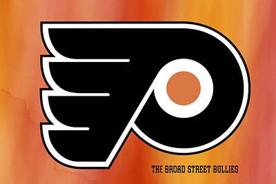 Philadelphia Flyers Hockey Club Poster by Daniel Hagerman