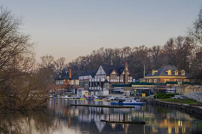 Philadelphia On Boathouse Row Poster by Bill Cannon