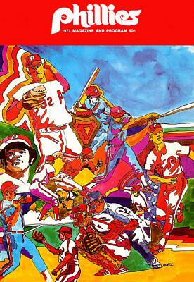 Philadelphia Phillies 1973 Program Poster by Big 88 Artworks