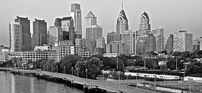Philly Gray And White Poster by Frozen in Time Fine Art Photography