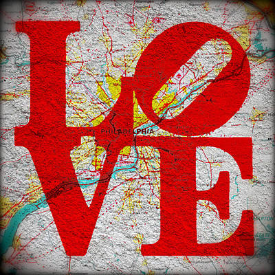 Philly Love V1 Poster by Brandi Fitzgerald