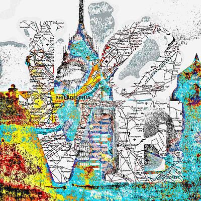 Philly Love V15 Poster by Brandi Fitzgerald