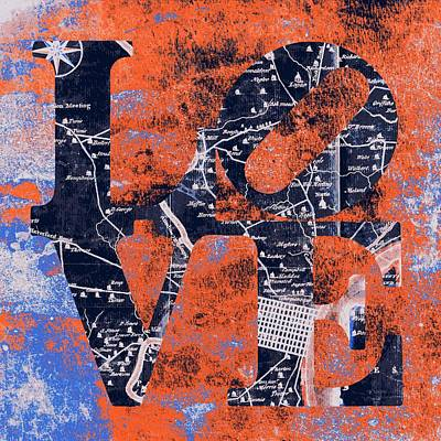 Philly Love V16 Poster by Brandi Fitzgerald