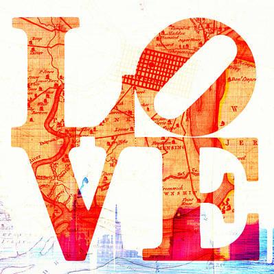 Philly Love V4 Poster by Brandi Fitzgerald