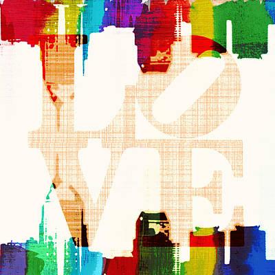 Philly Love V5 Poster by Brandi Fitzgerald