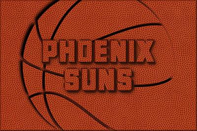 Phoenix Suns Leather Art Poster by Joe Hamilton