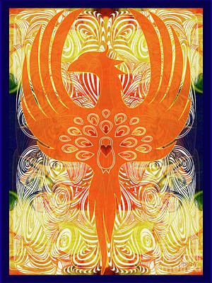 Phonix Rising Abstract Healing Art By Omashte Poster by Omaste Witkowski