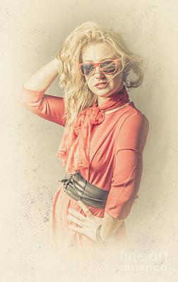 Photo Of Beautiful Girl In Vintage Fashion Style Poster by Jorgo Photography - Wall Art Gallery