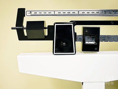 Physician Balance Beam Scale Picture Poster by Paul Velgos