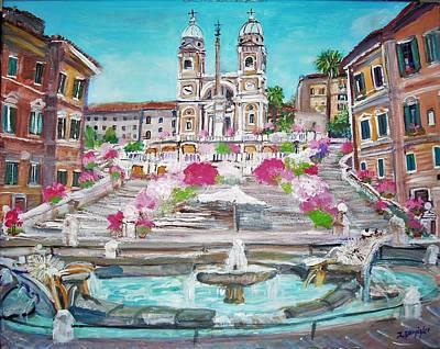 Piazza Di Spagna Poster by Teresa Dominici