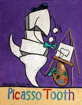 Picasso Tooth Poster by Anthony Falbo