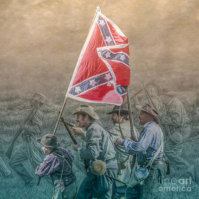 Pickett's Charge At Gettysburg Poster by Randy Steele