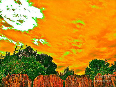 Picture Yourself Tangerine Sky Poster by Chuck Taylor