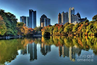 Piedmont Park Atlanta City View Poster by Corky Willis Atlanta Photography