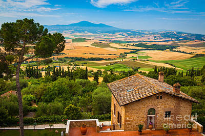 Pienza Landscape Poster by Inge Johnsson