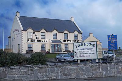 Pier House Restaurant Aran Islands Poster by Betsy Knapp