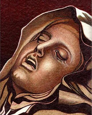 Pieta Poster by Jerry  Stith