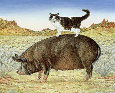 Piggyback-riding At Breteche Creek Poster by Ditz