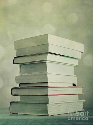 Piled Reading Matter Poster by Priska Wettstein
