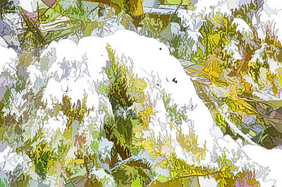 Pine Branch Tree Under Snow 9 Poster by Lanjee Chee