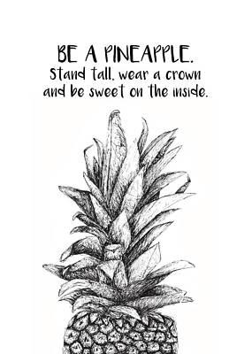 Pineapple Poster by Nancy Ingersoll