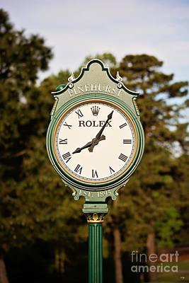 Pinehurst Clock Poster by Scott Pellegrin