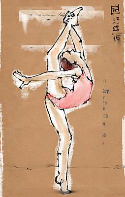 Pink Dancer Poster by H James Hoff