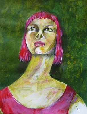 Pink Lady Poster by Brigitte Hintner