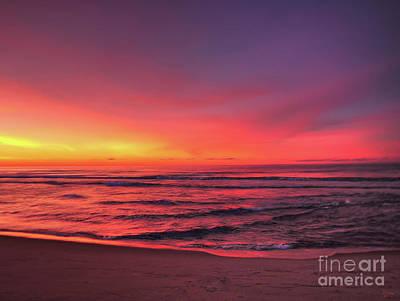 Pink Lbi Sunrise Poster by Jeff Breiman