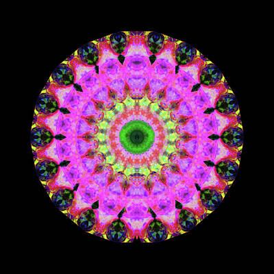 Pink Love Mandala Art By Sharon Cummings Poster by Sharon Cummings