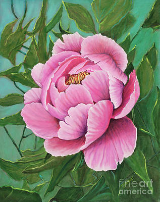 Pink Peony Poster by Denise Wood