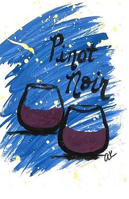 Pinot Noir Poster by Alyson Appleton