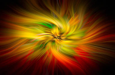 Pinwheels Of Light Poster by Debra and Dave Vanderlaan