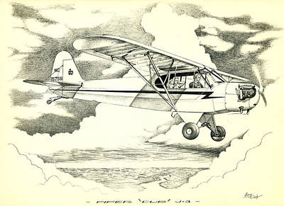 Piper J-3 Cub Poster by Hank  Clark