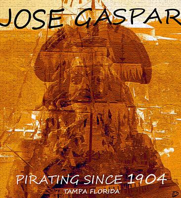 Pirate Jose Gaspar Poster by David Lee Thompson