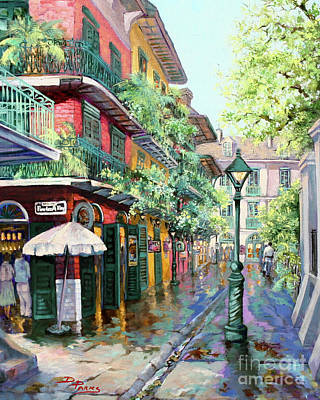 Pirates Alley - Oil On Canvas Poster by Dianne Parks