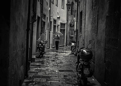 Pisa Back Alley Poster by Chris Fletcher