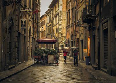Pisa In The Rain Poster by Chris Fletcher