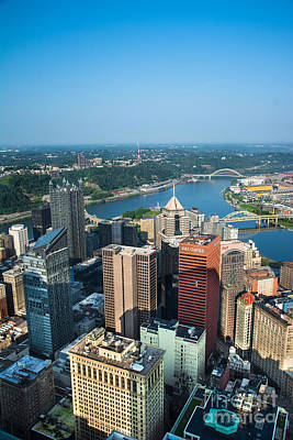 Pittsburgh Pennsylvania Aerial View Poster by Amy Cicconi