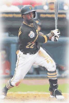 Pittsburgh Pirates Andrew Mccutchen 3 Poster by Joe Hamilton