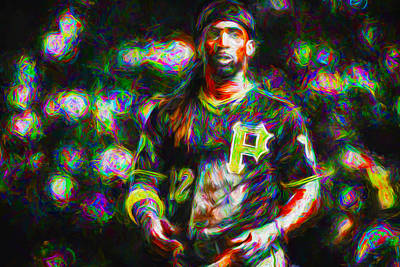 Pittsburgh Pirates Andrew Mccutchen Painted Poster by David Haskett