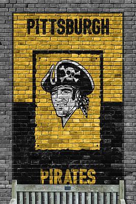 Pittsburgh Pirates Brick Wall Poster by Joe Hamilton