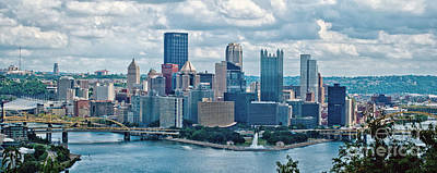 Pittsburgh Skyline Pano Poster by Pittsburgh Photo Company