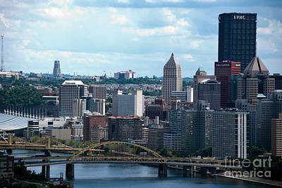 Pittsburgh Skyline Poster by Pittsburgh Photo Company