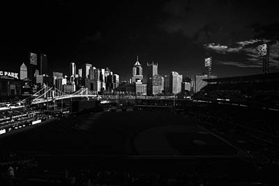 Pittsburgh Skyline Pnc Park Pirates Poster by David Haskett