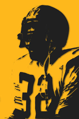 Pittsburgh Steelers Franco Harris Poster by Joe Hamilton
