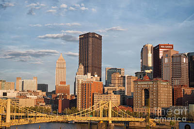 Pittsburgh Sunset Poster by Pittsburgh Photo Company