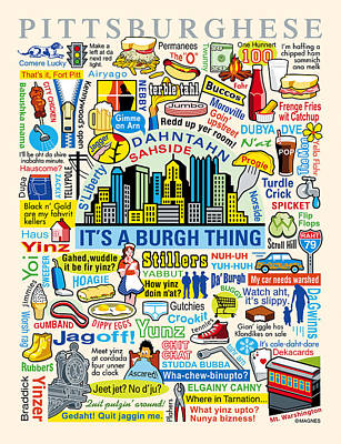 Pittsburghese Poster by Ron Magnes