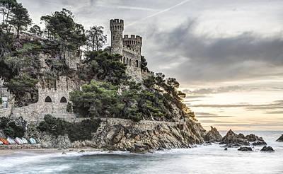 Plaja Castle In Lloret De Mar Poster by Marc Garrido